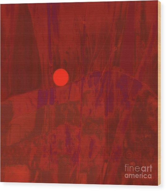 Sunset As Siler Metaphorm Wood Print