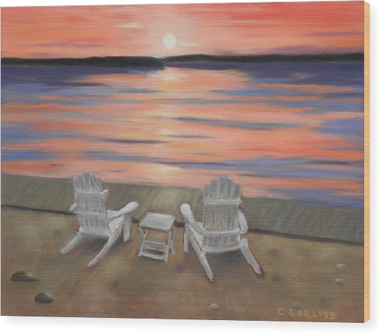 Sunset At Mairs Wood Print