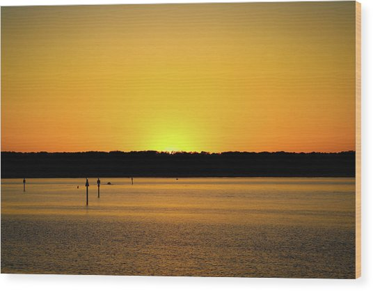 Sunset From National Harbor Wood Print