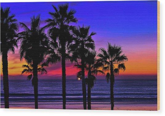 Sunset From The Ocean Park Inn Wood Print
