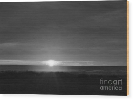 Sunset Horizon  Wood Print