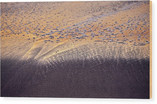 Sunset In The Sand Wood Print