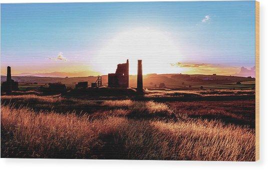 Sunset. Magpie Mine. Wood Print