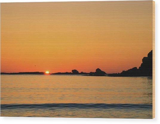 Sunset Over Sunset Bay, Oregon 4 Wood Print