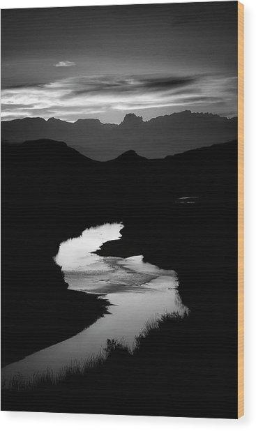 Sunset Over The Rio Grande Wood Print by Kim Kozlowski Photography, Llc