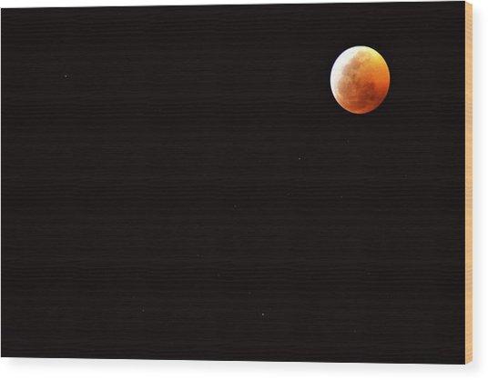 Super Blood Wolf Moon Wood Print