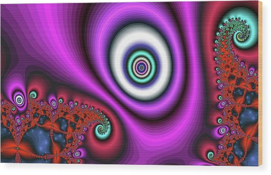 Super Hurricane Eye Magenta Wood Print