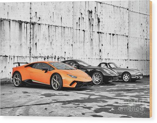 Supercars Wood Print