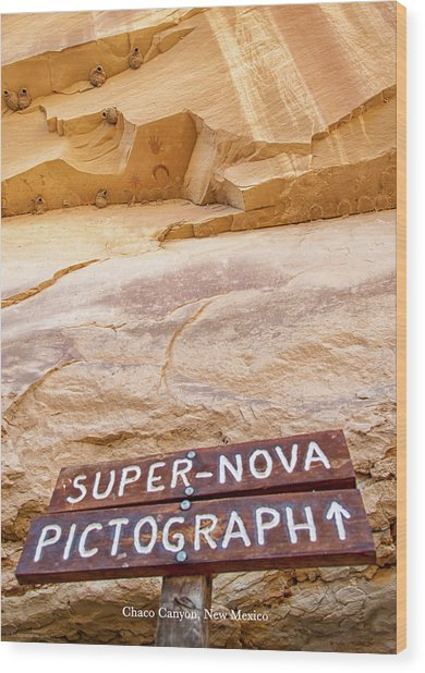 Supernova Pictograph Wood Print