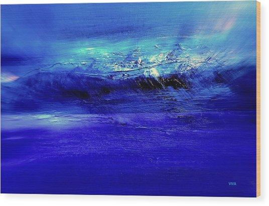 Superstorm At Sea Wood Print