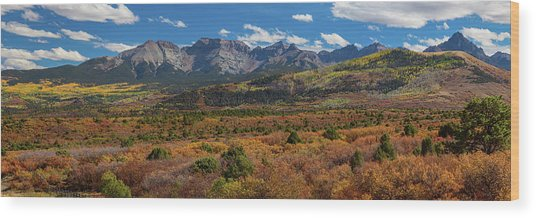 Sw Autumn Colorado Rocky Mountains Panoramic View Pt1 Wood Print by James BO Insogna