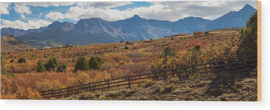 Wood Print featuring the photograph Sw Autumn Colorado Rocky Mountains Panoramic View Pt2 by James BO Insogna