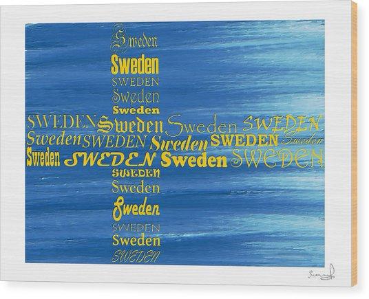 Sweden  Wood Print