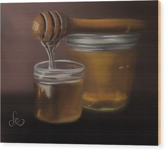 Wood Print featuring the painting Sweet Honey by Fe Jones