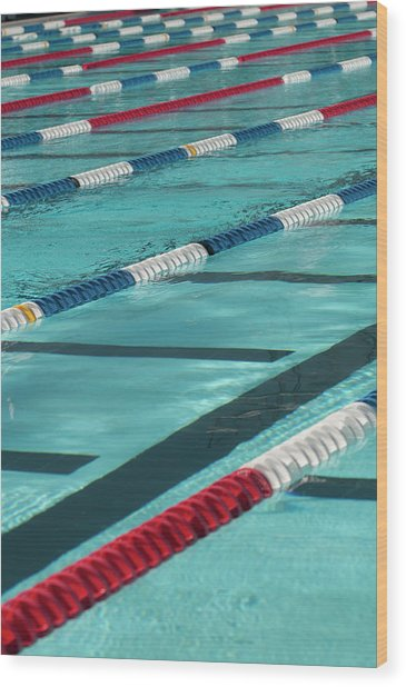 Swimming Lanes Wood Print