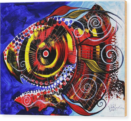 Swollen, Red Cavity Fish Wood Print