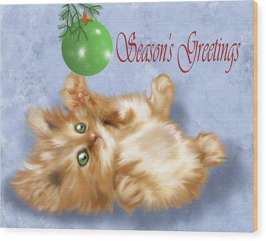 Tabby Greetings Wood Print