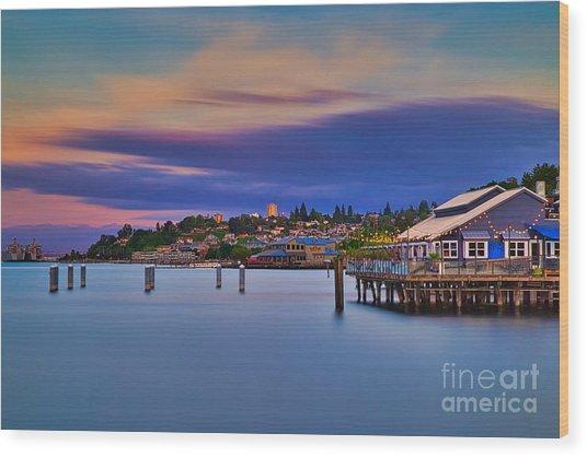 Tacoma, Point Ruston Wood Print