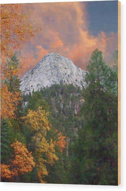 Tahquitz Peak - Lily Rock Painted Version Wood Print
