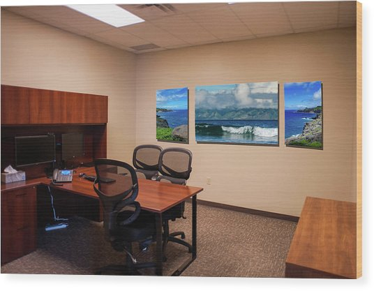 Tamara Office West Wall Wood Print