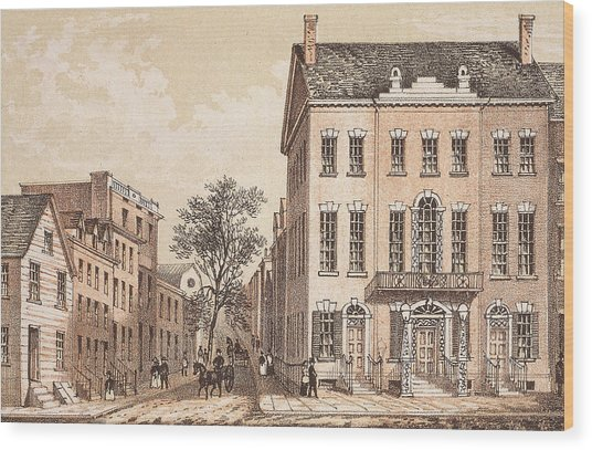 Tammany Hall Wood Print by Archive Photos