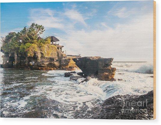 Tanah Lot Water Temple In Bali Wood Print