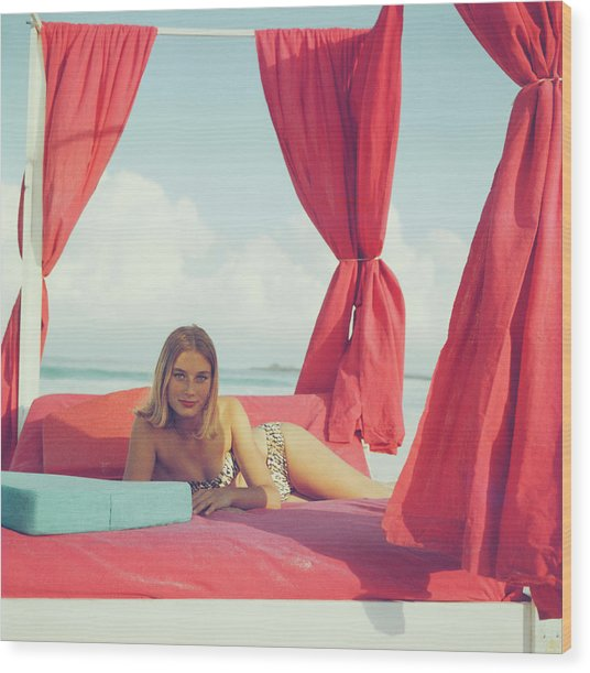 Tania Mallet Wood Print by Slim Aarons