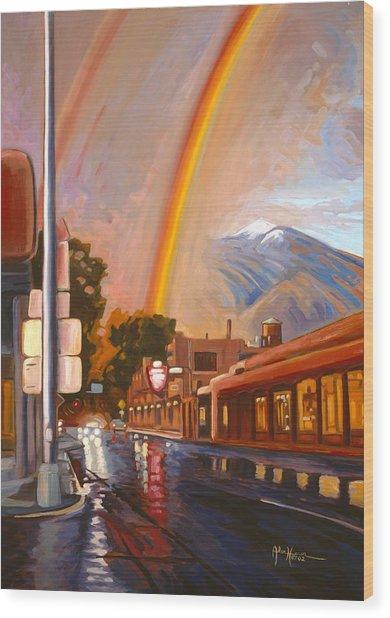 Taos Rainbow Wood Print