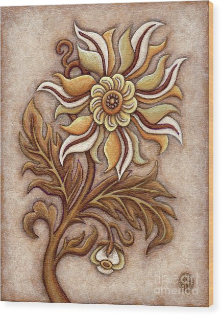 Tapestry Flower 1 Wood Print