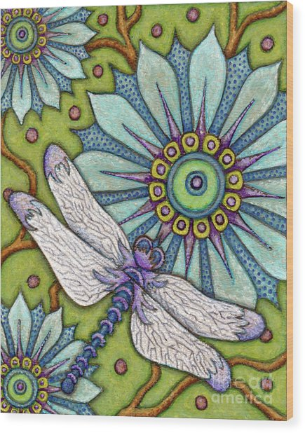 Tapestry Dragonfly Wood Print