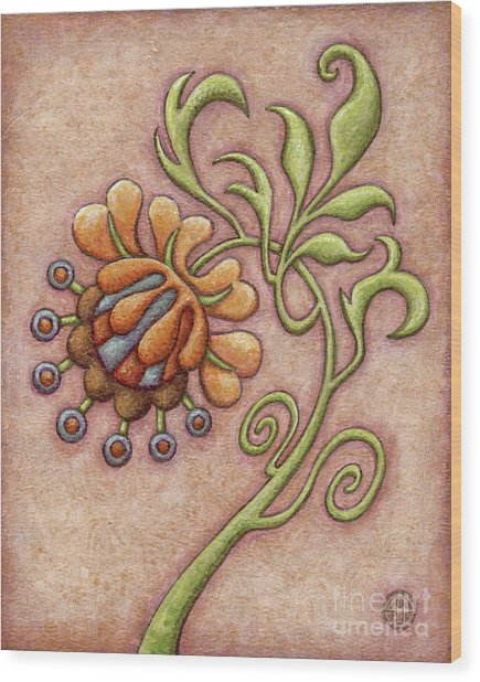 Tapestry Flower 10 Wood Print
