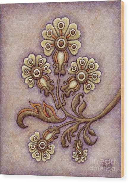 Tapestry Flower 4 Wood Print