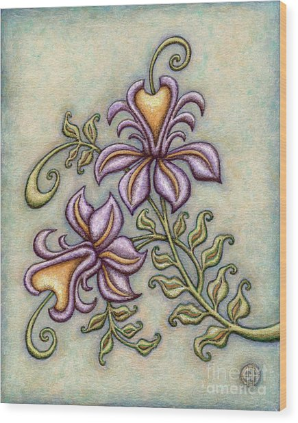 Tapestry Flower 8 Wood Print