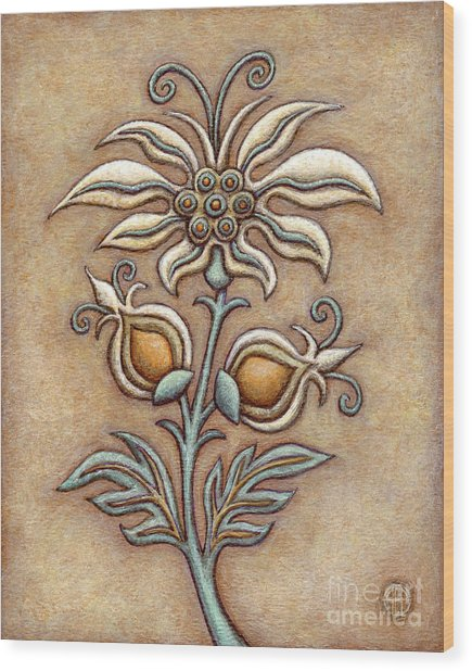 Tapestry Flower 9 Wood Print