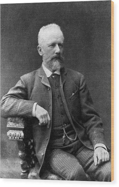 Tchaikovsky Wood Print by Hulton Archive