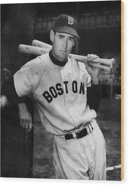 Ted Williams Wood Print by Fpg