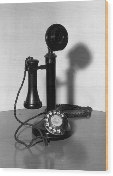 Telephone Wood Print by Fox Photos