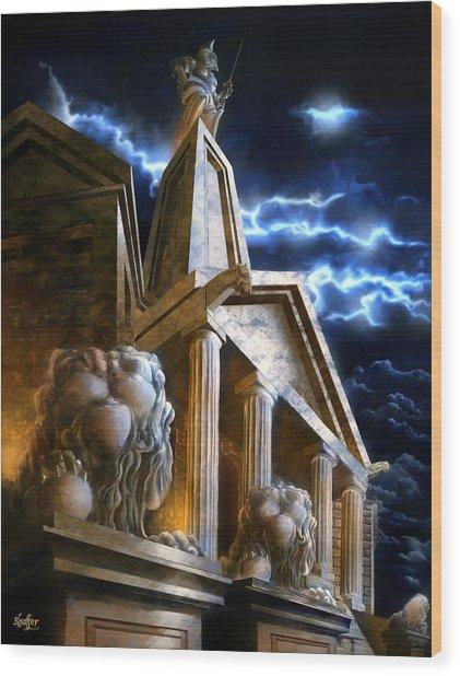 Temple Of Hercules In Kassel Wood Print