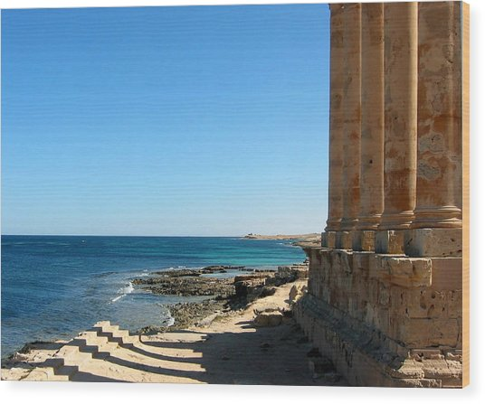 Temple Of Isis, Sabratha, Libya Wood Print by Joe & Clair Carnegie / Libyan Soup
