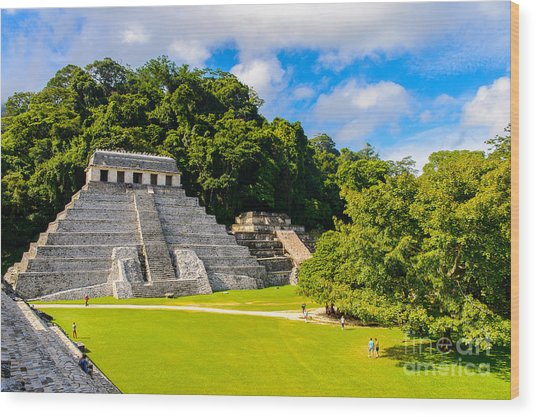 Temple Of The Inscriptions, Palenque Wood Print by Anton ivanov