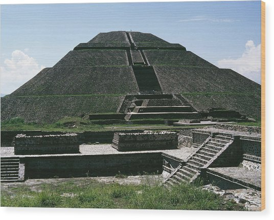 Teotihuacan Wood Print by Archive Photos