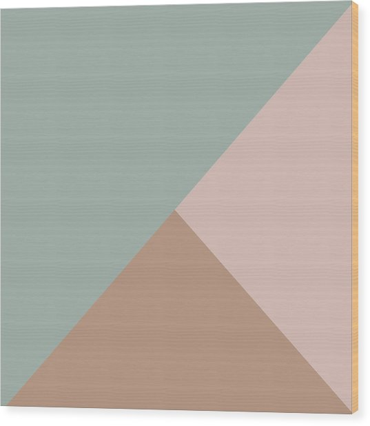Terrazzo Corners 1- Art By Linda Woods Wood Print