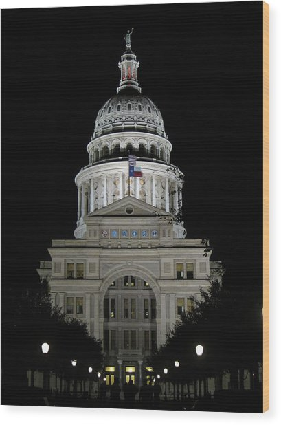 Texas Capitol II - Austin Wood Print by Borsheim