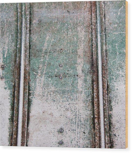 Texture Found On The Docks Wood Print