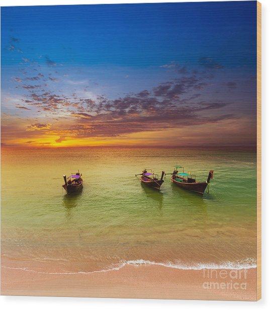 Thailand Nature Landscape. Tourism Wood Print