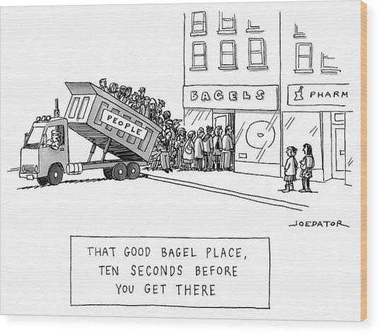 That Good Bagel Place Wood Print