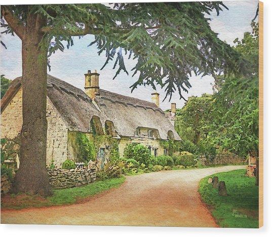 Thatched Roof Lane2 Wood Print by Joe Winkler