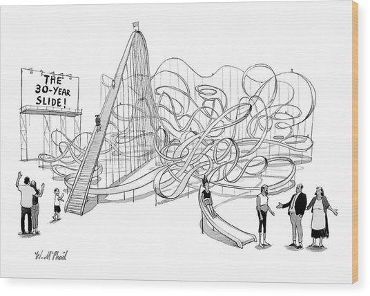 The 30-year Slide Wood Print