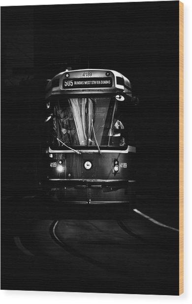 Wood Print featuring the photograph The 505 Dundas Streetcar Toronto Canada by Brian Carson