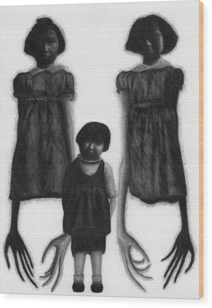 The Abberant Sisters - Artwork Wood Print